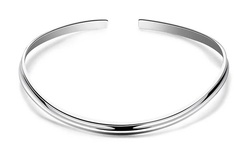 Rubique Jewelry Solid Sterling Silver Collar Necklace