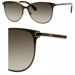 Fendi Unisex Sunglasses - Semi Matte Brown - Size: 57mm
