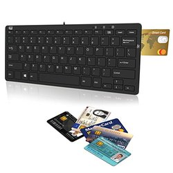 Adesso SlimTouch Mini Keyboard with SmartCard Reader & USB Hubs
