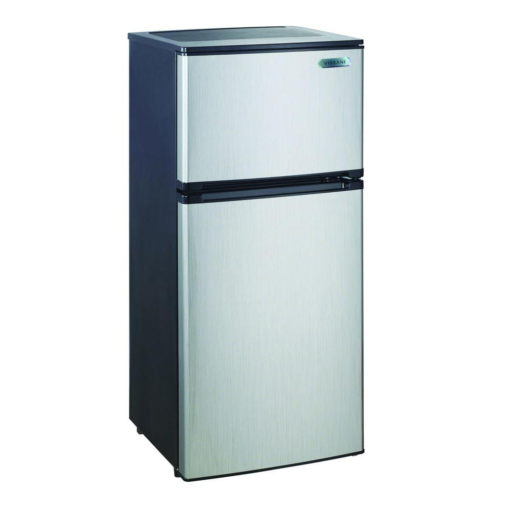 Magic Chef 4.3 cu. ft. Mini Refrigerator in Stainless Look ...