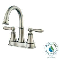 Pfister Courant 4 inch Centerset 2-Handle Bathroom Faucet - Brushed Nickel