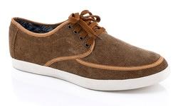 Franco Vanucci Men's Lace Up Sneakers - Tan - Size: 10