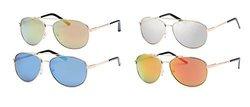 AFONiE Unisex Aviator Style SunGlasses 4-Pack - Multi