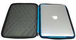 Gumdrop Cases Drop Tech Series Sleeve for Apple Macbook 11-Inch and Ultrabooks, Black/Blue (DTS-MACBOOK11-BLK)