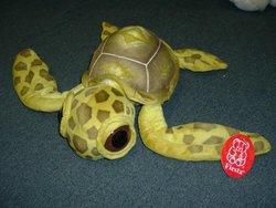 "11.5"" Big Eyed Yellow Sea Turtle Plush Stuffed Animal Toy by Fiesta Toys"