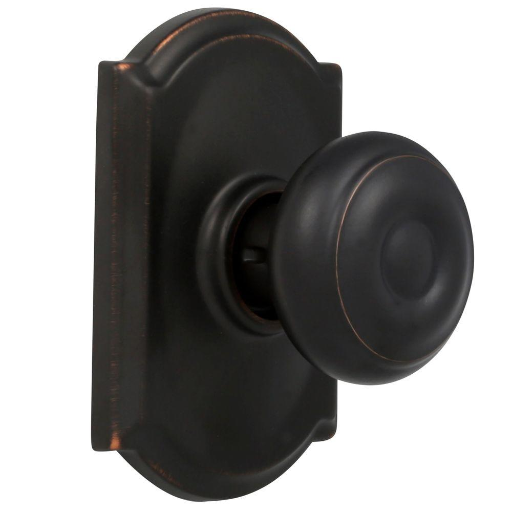 Schlage Camelot Georgian Aged Bronze Hall And Closet Knob Check Back Soon Blinq