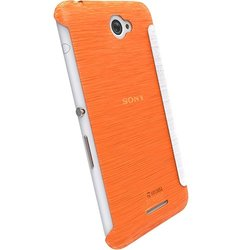 Krusell Boden Flip Case for Sony Xperia E4 - Orange (90073)