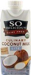 So Delicious - Dairy Free Culinary Coconut Milk Lite 11 oz