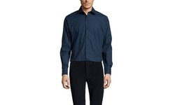 Brio Milano Solid Sport Shirt - Navy - Size: Medium