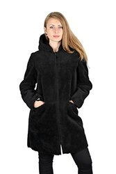 Dawn Levy Women's Reversible Hooded Faux Fur Coat - Black - Size: M