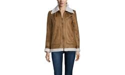 Rachel Rachel Roy Women's Duffle Faux Shearling Jacket - Cognac - Size: M