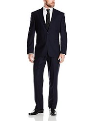 Vince Camuto Men's Modern Fit 2 Button Side Vent Suit - Navy - Size: 40S