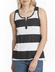 Unionbay Junior's Camden Tank Top - Black/White - Size: Medium