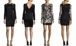 Sable Zoe Women's Long Sleeve Cocktail Dress - Black - Size: S