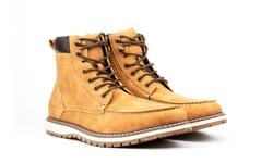 Bonafini Vincent Cavallo Men's Moc Toe Boots - Tan - Size: 13
