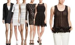 Endless Rose Women's Short Sleeve Mesh Floral Dress - Off White - Size: M