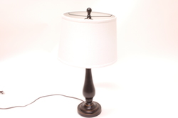 DSI 3-Pack Table and Tall Lamp Set - Bronze/White Shade
