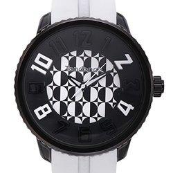 Tendence Gulliver Men's Analog Watch - Black/White Band (62627311)