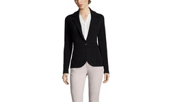 Gabriella Rossi Women's Cashmere Blazer - Black - Size: Small
