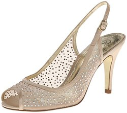 Adrianna Papell Women's Fame Dress Pump - Nude Mesh - Size: 8 M