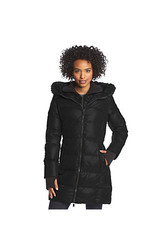 BCBGeneration Women's Down Coat with Hood & Bib - Black - Size: X-Small