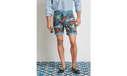 WESC Men's Rai Chino Shorts - Tropical - Size: 32
