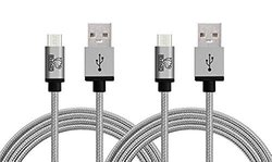 Rhino Micro USB Cable for Android Smartphones - Coral Blue - Pack of 2