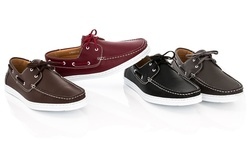 Franco Vanucci Men's Boat-15 Shoes - Brown - Size: 10