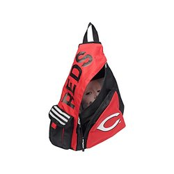 MLB Boston Red Sox Leadoff Sling Backpack - Black/Red
