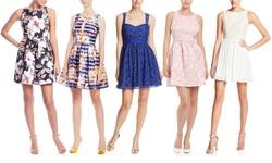 Minuet Women's Sleeveless Top Skirt Dress - Off White - Size: Large
