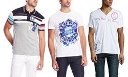 Desigual Men's Funny Polo Shirts - White - Size: XX-Large