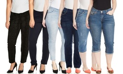 Seven7 Women's Houndstooth Print Skinny Jean - Blue - Size: 22W