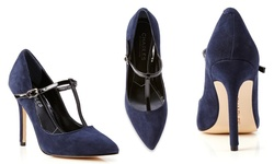 Charles By Charles David Princeton Pumps - Navy/ Black - Size: 7