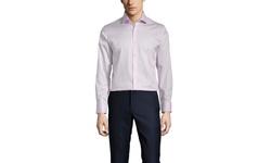 Vince Camuto Men's Sateen Slim Fit Dress Shirt - Hibiscus - Size: 15-1/2