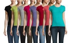 Gabriella Rossi Cashmere Women's Short Sleeve T-Shirt - Navy - Size: Small