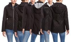 Laundry By Design Women's Soft Shell Raincoat - Black - Size: X-Large