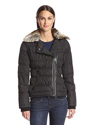 Laundry By Women's Puffer With Zip Off Sleeves - Black - Size: Small