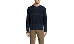 Cullen Men's Shaded Stripe Merino Crew Sweater - Night Marl - Size: Medium