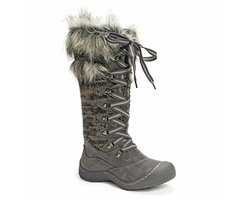 Muk Luks Women's Gwen Tall Lace Up Snow Boot - Grey Marl - Size: 7M