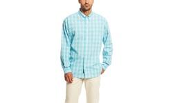 Bill's Men's Classic Fit Plaid Long Sleeve Shirt - Mint - Size: Large