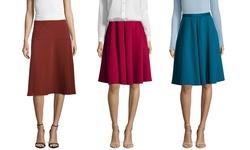 Paniz Circle Skirt with Side Zipper - Congnac - Size: 6