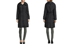 Cole Haan Women's Zip Front Down Coat - Black - Size: Medium