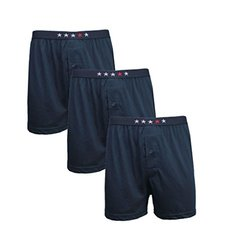 Men's Premium Blend Tagless Boxers: Navy/Large