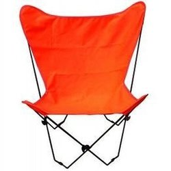 Butterfly Chair (Black Frame W Orange Fabric)