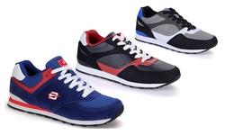 Dream Seek Men's Fashion Sneakers - Black-Red - Size: 8.5