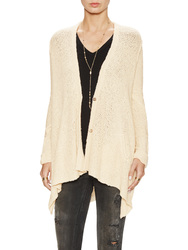 Shark Hem Cotton Cardigan cream