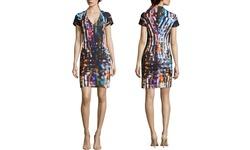 Mcq Alexander Women's Printed Cap Sleeve Dress - Multi -Size: Large