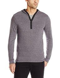 Howe Men's Long Shoreman Long Sleeve Pullover W/ Hood - Grey- Size: XL