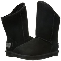Australia Luxe Women's Cosy Short Winter Fashion Boots - Black - Size: 5