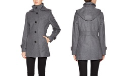 G Iii Women's Wool Single Breasted Peacoat - Gravel - Size: 6
